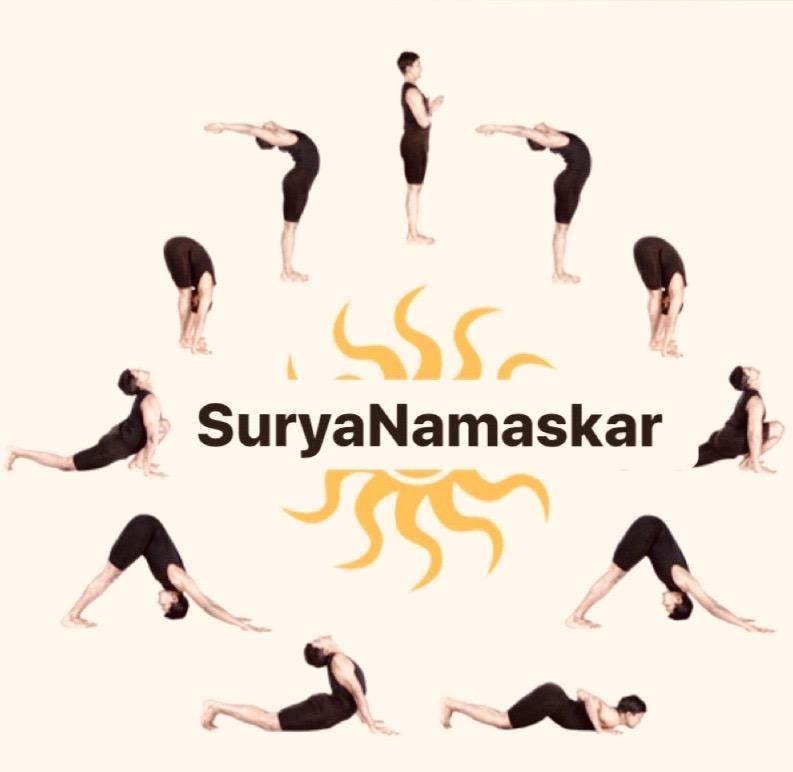 Surya Namaskar Sun Salutation Jagadguru Kripalu Yoga Naturopathy Hospitaljagadguru Kripalu Yoga Naturopathy Hospital